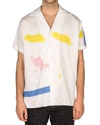 Reception Liquid G Bowling Shirt - Weiß