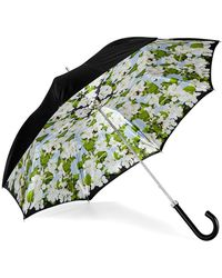 Aspinal of London Beautiful Soul Stand Up Umbrella - Blue