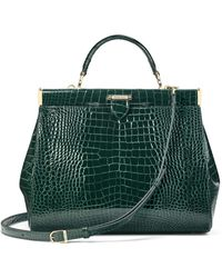 Aspinal of London Large Florence Frame Bag - Green
