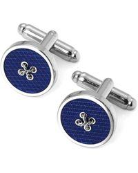 Aspinal of London Button Cufflinks - Blue