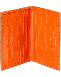 Aspinal - Double Credit Card Case With Back Pocket - Lyst