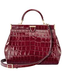 Aspinal of London Small Florence Frame Bag - Red