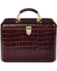 Aspinal - Aspinal Vanity Case In Deep Shine Amazon Brown Croc - Lyst