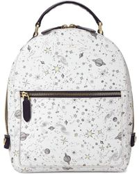 Aspinal of London Ladies Small Mount Street Backpack - White