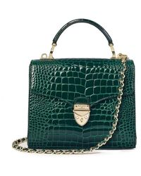 Aspinal of London Midi Mayfair Bag With Chain Strap - Green