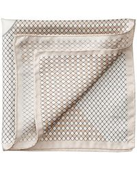 Aspinal - Savile Row Silk Twill Pocket Square - Lyst