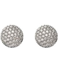 Aspinal of London Pave Dome Diamond Stud Earrings - White