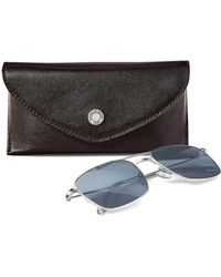 Aspinal - The Aerodrome Aviator Sunglasses & Case Set - Lyst