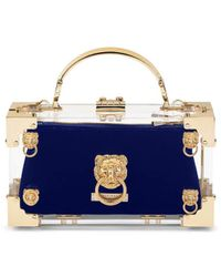 Aspinal of London Trinket Box Pouch - Blue