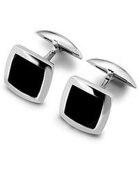 Aspinal - Sterling Silver Square Cufflinks - Lyst