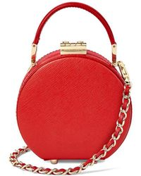 Aspinal of London Micro Hat Box - Red