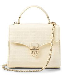 Aspinal of London Midi Mayfair Bag - White