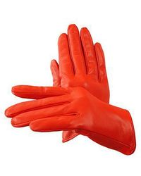 Aspinal - Ladies Short Unlined Leather Gloves - Lyst
