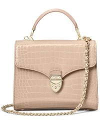 Aspinal of London Midi Mayfair Bag With Chain Strap - Brown