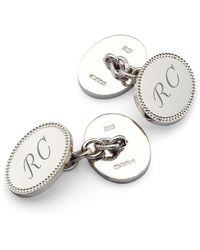 Aspinal of London Mens Exquisite Designer Cufflinks - Metallic