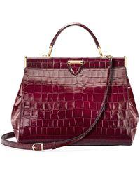 Aspinal of London Large Florence Frame Bag - Red