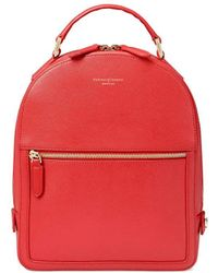 Aspinal of London Small Mount Street Backpack - Orange