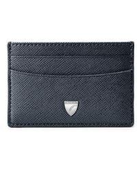 Aspinal of London Slim Credit Card Holder - Blue