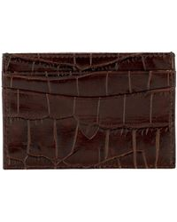 Aspinal of London - Handmade Credit Card Case In Amazon Brown Croc & Stone - Lyst