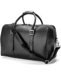 Aspinal of London Aspinal Leather Travel Bag - Black