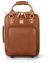 Aspinal of London Ladies Handmade Weekend Bag - Candy Case In Tan Pebble Calf - Brown
