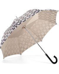 Aspinal of London Ladies Walking Style Umbrella - Marylebone Umbrella In Monochrome - Multicolor