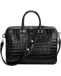 Aspinal of London Mount Street Small Briefcase - Black