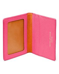 Aspinal of London Id & Travel Card Holder - Pink