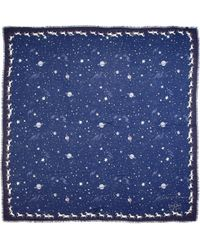 Aspinal - Pegasus Constellation Cashmere Blend Scarf - Lyst