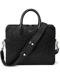 Aspinal of London Slim Mount Street Bag - Black