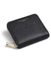 Aspinal of London Slim Mini Continental Purse - Black
