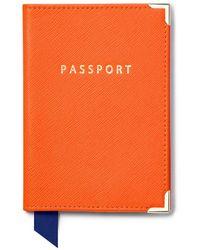 Aspinal of London Passport Cover - Orange