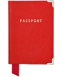 Aspinal of London Passport Cover - Red