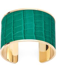 Aspinal of London Cleopatra Cuff Bracelet - Green