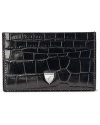 Aspinal of London Slim Credit Card Holder - Black