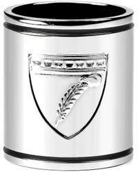 Aspinal of London Aspinal Shield Scarf Ring - Metallic
