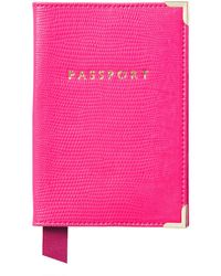 Aspinal of London Passport Cover - Pink