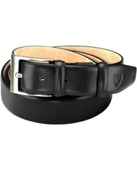 Aspinal of London Black Leather Belts