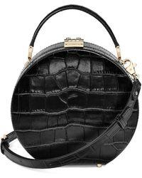 Aspinal of London Mini Hat Box Bag - Black