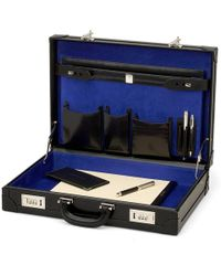 Aspinal of London Attache Case - Black