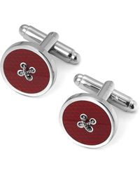 Aspinal of London Button Cufflinks - Red