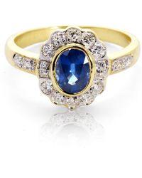 Aspinal of London - Debutante Sapphire & Diamond Ring - Lyst