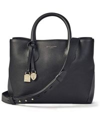 Aspinal of London Small Leather Tote Bag - Black