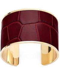 Aspinal of London Ladies Cleopatra Cuff Bracelet - Red