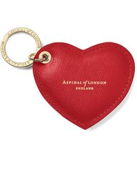 Aspinal of London Heart Key Ring - Red