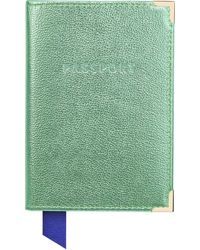 Aspinal of London Passport Cover - Green