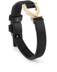 Aspinal of London Ladies Stirrup Bracelet - Black