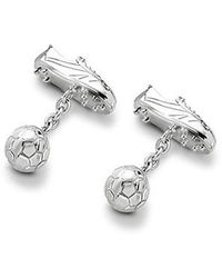 Aspinal - Sterling Silver Football Boot & Ball Cufflinks - Lyst