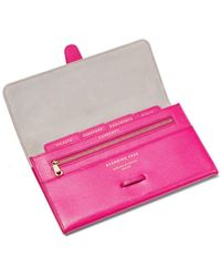 Aspinal of London Classic Travel Wallet - Pink