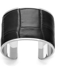 Aspinal of London Ladies Silver Cleopatra Cuff Bracelet - Metallic